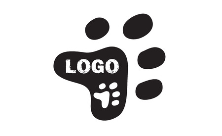 Vector - Vet or pet shop logo design. Clean and modern  logo design. Can be used for companies.