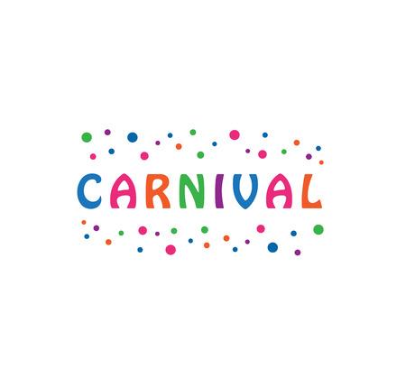 Colorful carnival signage. 矢量图像
