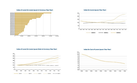 Bar and line graph templates.