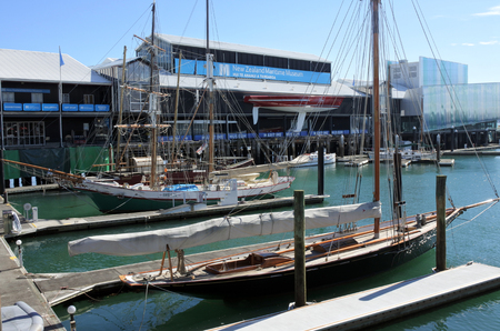 AUCKLAND - AUG 05 2017:New Zealand Maritime Museum.It houses exhibitions spanning New Zealands maritime history from the first Polynesian explorers to modern day triumphs at the Americas Cup.