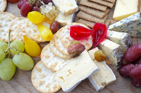 Cheese platter. Food background and texture. Copy space