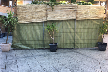 A sukkah or succah, a temporary hut constructed for use during the week-long Jewish festival of Sukkot.
