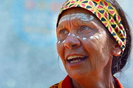 Portrait of a mature adult Aboriginal Woman
