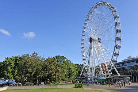 BRISBANE - DEC 30 2018:Wheel of Brisbane Ferris wheel in South Brisbane, Queensland Australia.It is 60 metres tall. Editorial