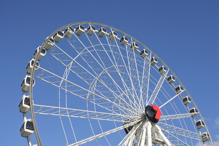 BRISBANE - DEC 30 2018:Wheel of Brisbane Ferris wheel in South Brisbane, Queensland Australia.It is 60 metres tall. 新闻类图片