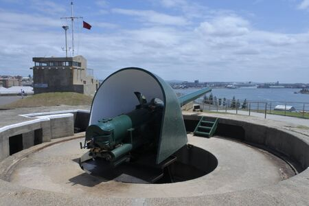 NEWCASTLE, NSW - FEB 2019:Fort Scratchley in Newcastle New South Wales, Australia. It was built in 1882 to defend the city against a possible Russian attack. Editorial