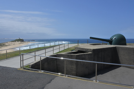 Fort Scratchley in Newcastle New South Wales, Australia. It was built in 1882 to defend the city against a possible Russian attack. Stock Photo