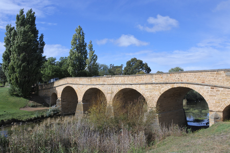 Richmond Bridge, a heritage listed arch bridge in Richmond Town in Tasmania, Australia