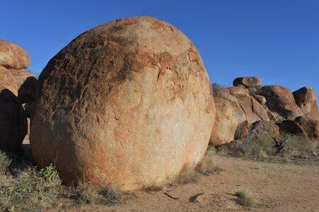 Landscape view of Devils Marbles Karlu Karlu in the Northern Territory, Australia