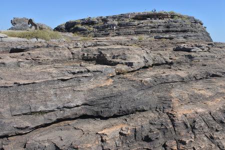 Landscape view of Ubirr rock art site in Kakadu National Park Northern Territory of Australia