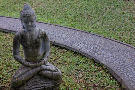 Buddha statue sculpture in Bali Indonesia. Buddha statue sculpture in Bali Indonesia. Buddha was a monk, mendicant, sage, philosopher, teacher and religious leader on whose teachings Buddhism was founded.