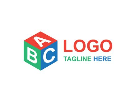 Vector - ABC Cube icon idea concept logo. Geometric brand company logotype emblem, business identity shape. 矢量图像