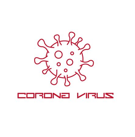 White clear Coronavirus icon logo vector Illustration. Healthcare and medical concept background.