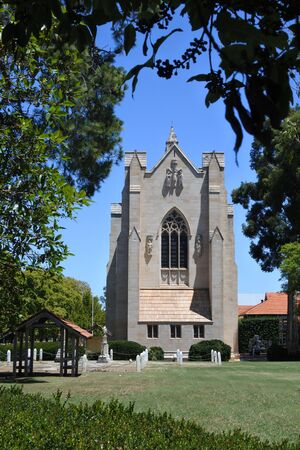 The Chapel of St. Mary and St. George, is one of the three latest Revival styles in Australia - the Gothic Perpendicular Revival.