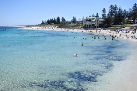 Landscape view of Cottesloe Beach in Perth,  Western Australia
