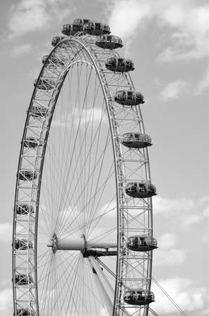 London Eye Millennium Wheel, Europe's tallest cantilevered observation wheel and  the most popular paid tourist attraction in the United Kingdom with over 3 million visitors annually.