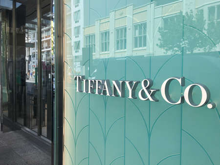 PERTH - SEP 25 2020:Tiffany & Co shop a Luxury American retailer known for fine jewelry, china & silver, plus wedding registry. Redakční