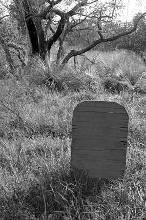 A deserted tombstone grave in the Australian outback.