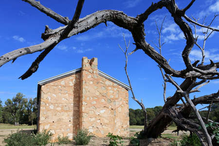 An old deserted farm house in Western Australia outback.