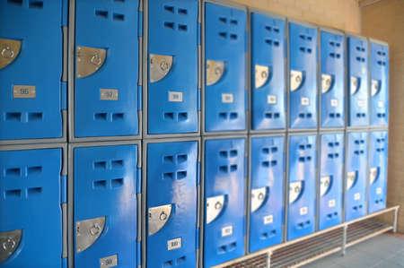An empty high school locker room