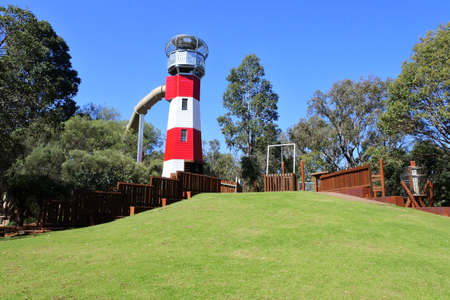 Pia's Place playground in Whiteman Park popular local tourist attraction in Perth, Western Australia.