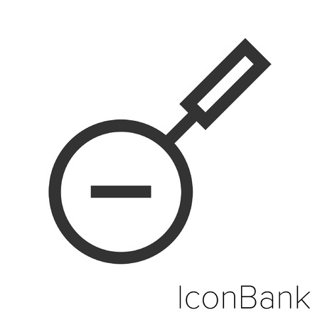 Icon Bank Reduce in black and white Illustration.