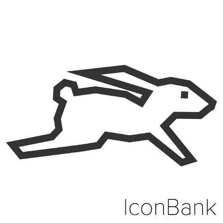Icon Bank Hare in black and white Illustration.  イラスト・ベクター素材