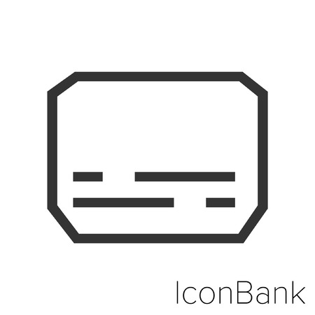 Icon Bank Subtitle in black and white Illustration. Illusztráció