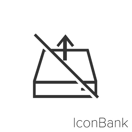 Icon Bank denied out files in black and white Illustration. Illustration