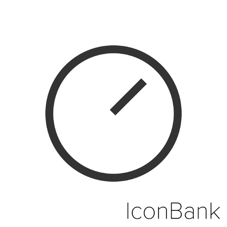 Icon Bank two and ten clock in black and white Illustration.