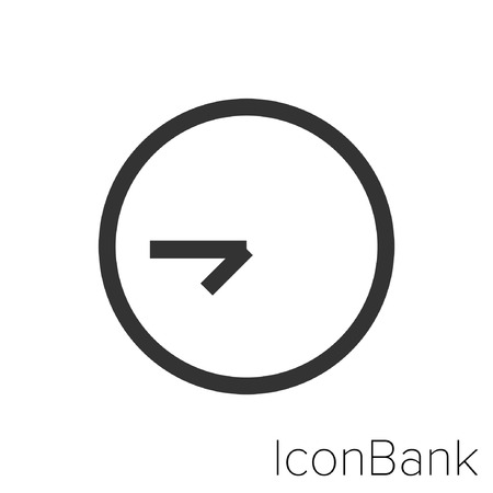 Icon Bank seven and forty-five clock in black and white Illustration.