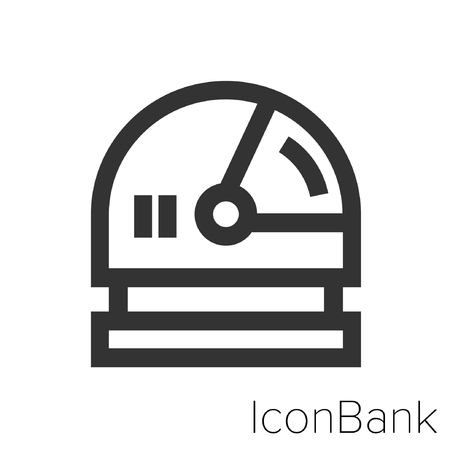 Icon Bank pace helmet in black and white Illustration.