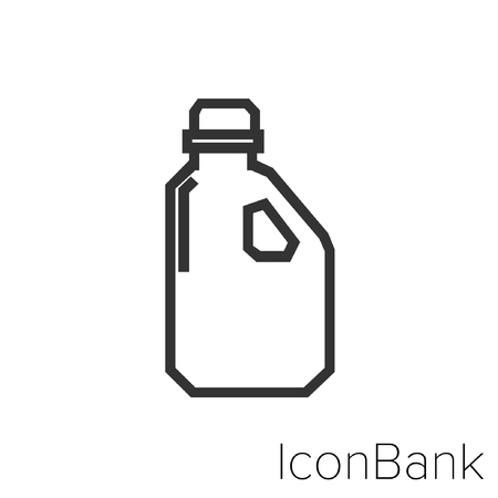 Icon Bank Plastic Packaging in black and white Illustration.