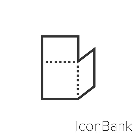 Icon Bank cardboard doubles in black and white Illustration. Çizim