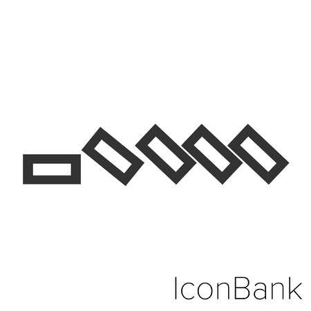 Icon Bank in black and white Illustration.