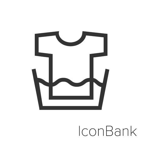 Icon Bank soaked shirt in black and white Illustration.