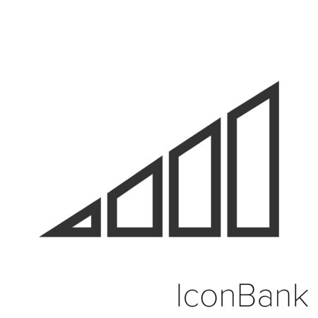 Icon Cell signal in black and white Illustration.