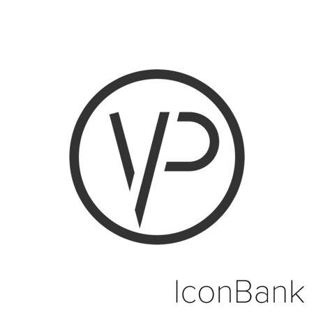 VIP Icon icon in black and white Illustration. Ilustração