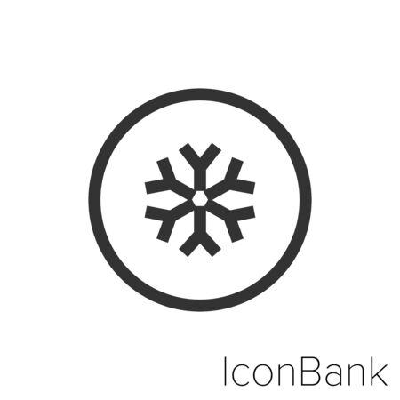 Icon cold environment in black and white Illustration. Illusztráció