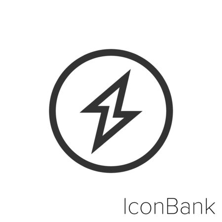 Icon electric in black and white Illustration. Ilustração