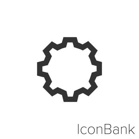 Icon configuration in black and white Illustration.