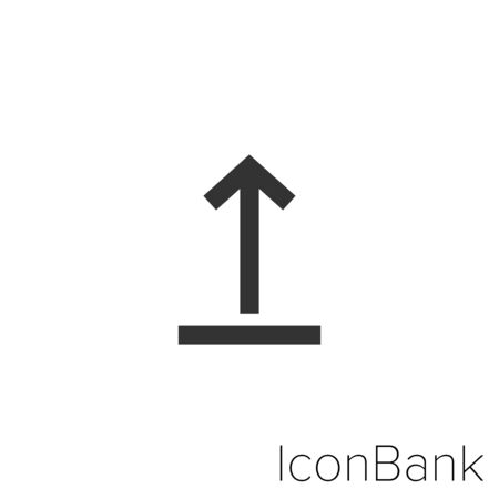 Icon upload in black and white Illustration.