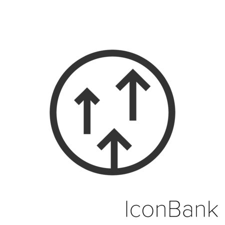 Icon level up in black and white Illustration.