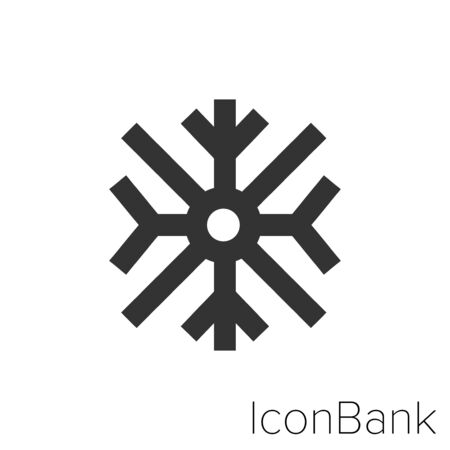 Icon cold  in black and white Illustration. Ilustração