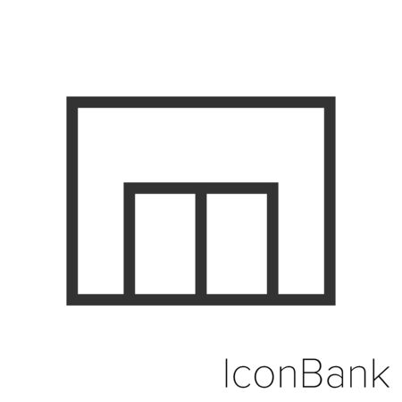 Icon Mall in black and white Illustration.