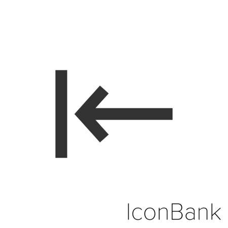 Icon go back in black and white Illustration. Ilustração