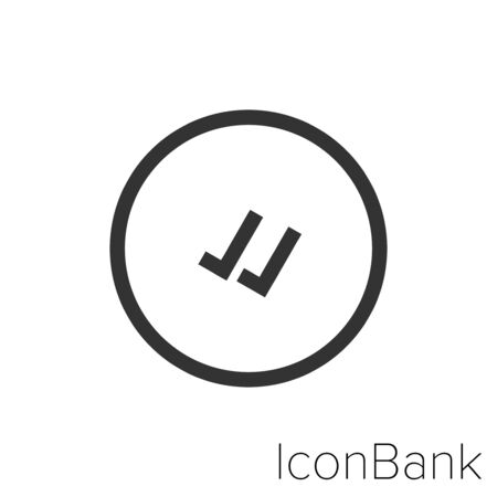 Icon sent and received in black and white Illustration.