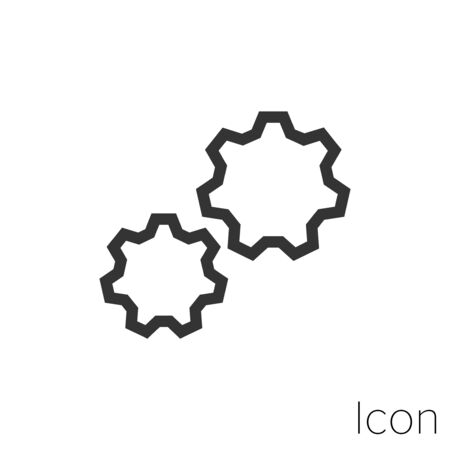 Icon setting in black and white Illustration.