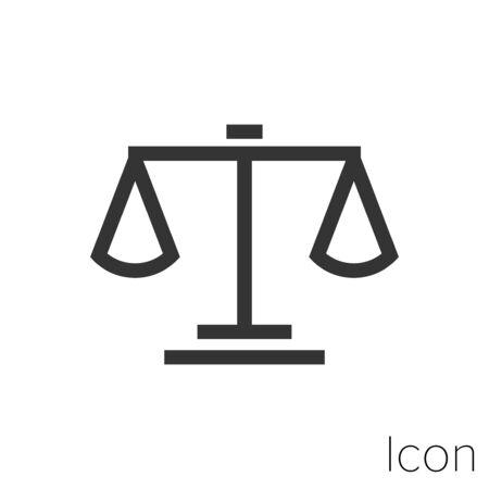 Icon balance in black and white Illustration. Çizim