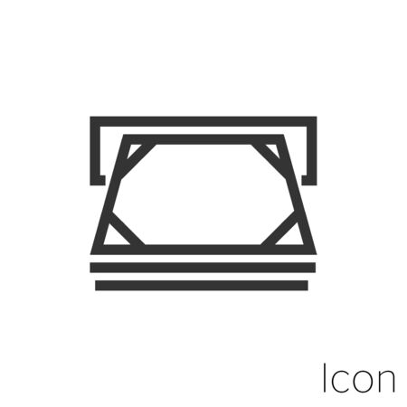 Icon withdrawing cash in black and white Illustration.